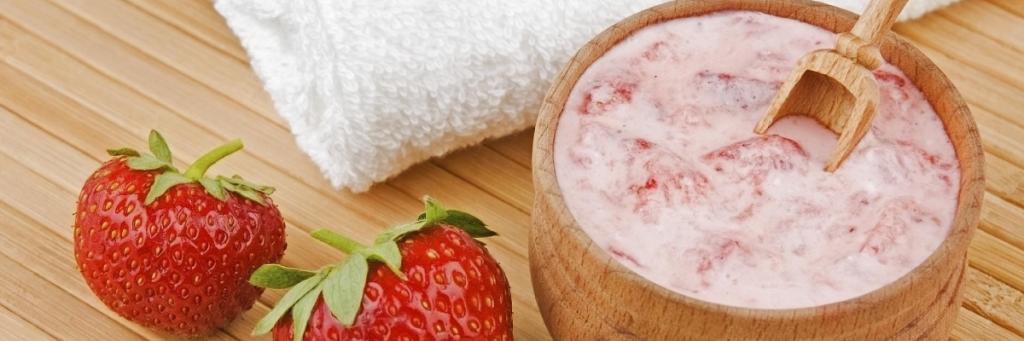 Receta Mascarilla Yogurt Fresa